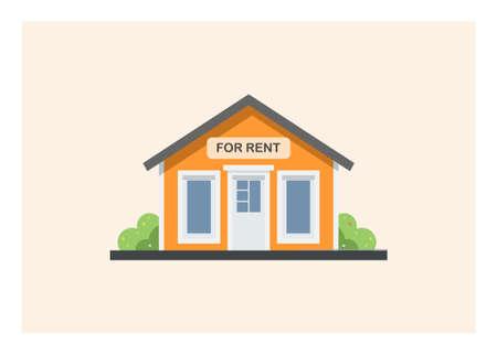 House for rent. Simple flat illustration. Illusztráció