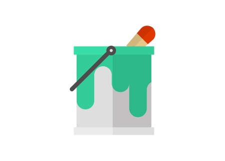 Paint can. Simple flat illustration