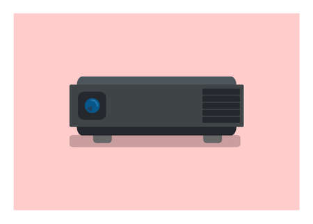 LCD projector unit. Simple flat illustration