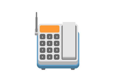 Wireless phone. Simple flat illustration