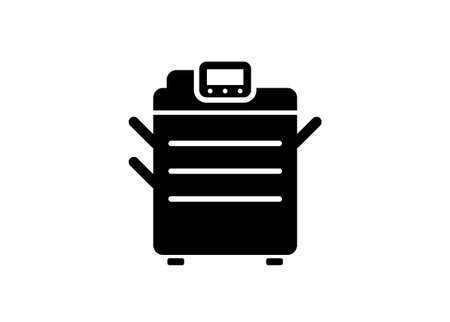 Photocopy machine. Simple illustration in black and white.