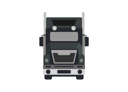 Front view of a container truck in simple flat illustration Illusztráció