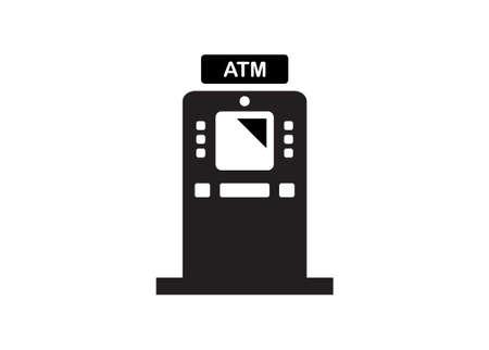 ATM machine in simple flat illustration