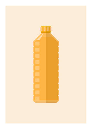 Cooking oil. Simple flat illustration