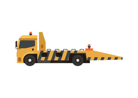 Towing truck. Simple flat illustration