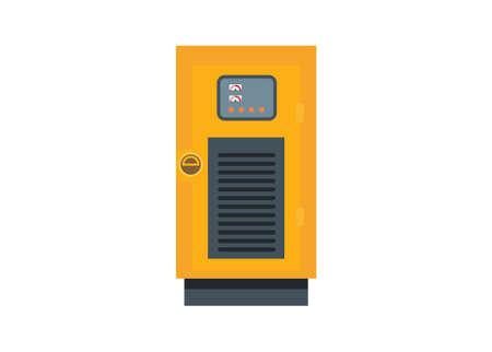 Small generator engine. Simple flat illustration Ilustracja