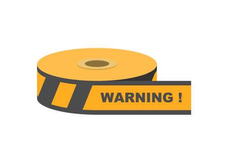 Barricade tape. Simple flat illustration