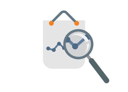 Market research. Simple flat illustration Ilustracja