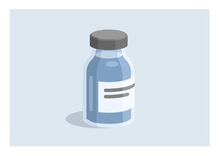 Vaccine bottle. Simple flat illustration