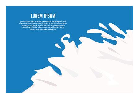 Milk splash. Simple flat illustration