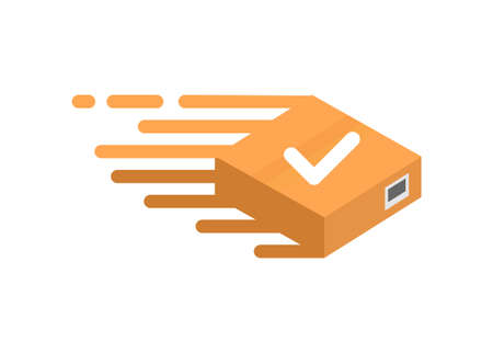 Express package delivery. Simple flat illustration