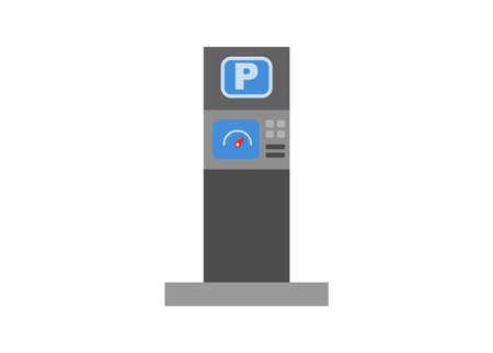 Parking meter Simple flat illustration