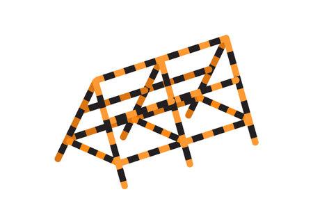 Iron barricade. Simple flat illustration