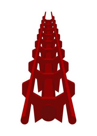 Roller coaster track. Simple flat illustration Ilustração