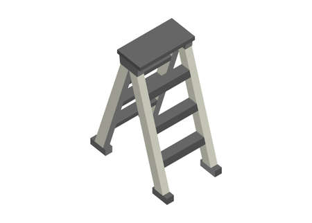 Folding ladder. Simple flat illustration. Ilustração