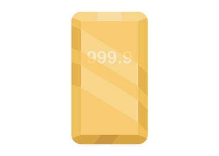 Fine gold bar. simple flat illustration