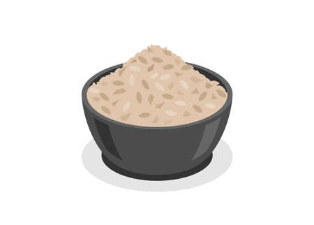 Raw cereal. Simple flat illustration.