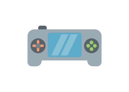 Portable game player. Simple flat illustration