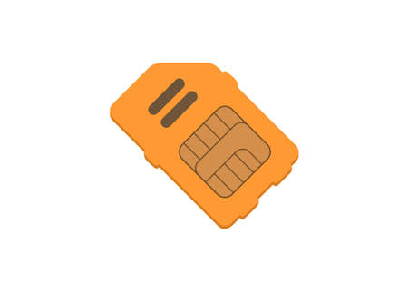 SIM card. Simple flat illustration.