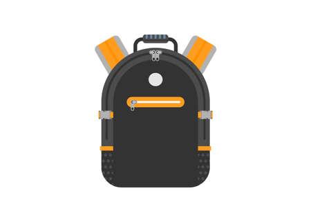 Backpack bag. Simple flat illustration.