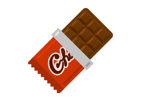 Chocolate bars. Simple flat illustration