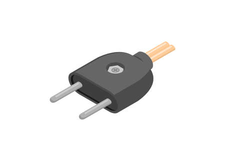 Electrical plug. Simple flat illustration.