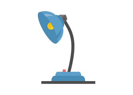 Studying lamp. simple flat illustration