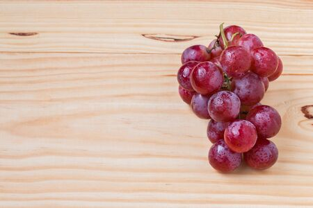 Ripe red grape isolated.
