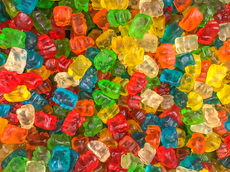 Colored jellied candy for background.