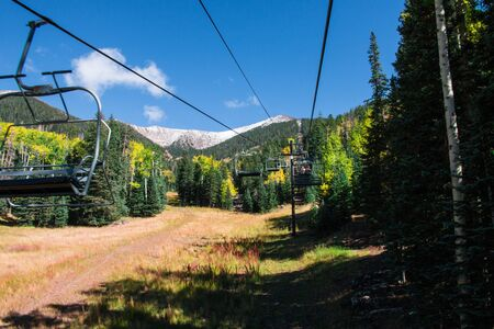 prairie: Arizona Snowbowl in summertime in Flagstaff, Arizona, United states.