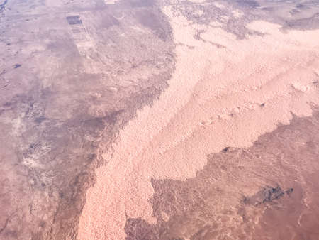 View from airplane on Earth surface  in southwest USA.
