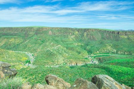 flagstaff: Beautiful valley of Agua Fria National Monument in Arizona, America. Stock Photo
