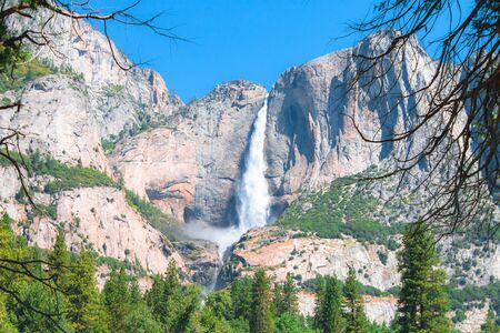 bridalveil fall: Yosemite Falls in Yosemite National Park.
