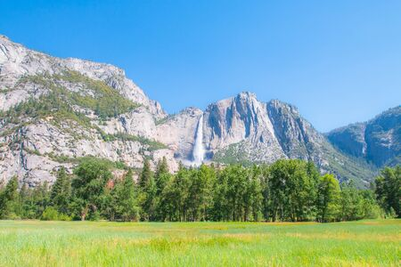 bridalveil fall: Yosemite Falls, Yosemite National Park, California State in USA Stock Photo
