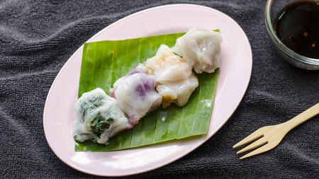 cebollin: Cebollino Dumpling Foto de archivo