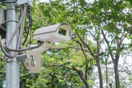 close circuit camera: Camera for security people in park