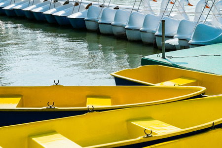 yellow boats: The yellow boats in my lake