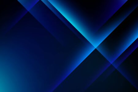 Abstract blue light crystal on dark background, copy space composition. 向量圖像