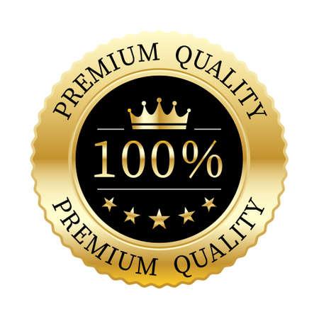 100% premium quality crown and 5 stars badge gold metallic logo