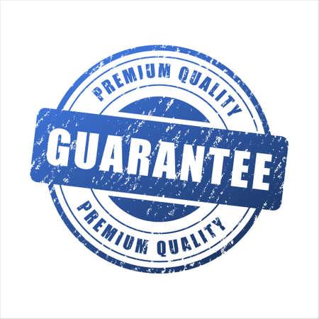 Premium quality guarantee blue grunge stamp vintage