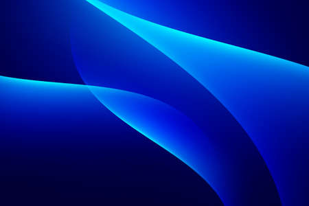 Glow curve lines on dark blue abstract background
