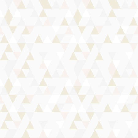 Triangle seamless pattern vector, random gold shade. Vektorgrafik