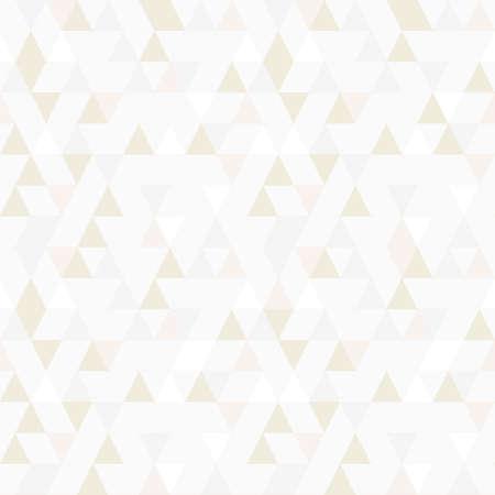 Triangle seamless pattern vector, random gold shade. Ilustração Vetorial