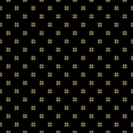 Seamless pattern gold art deco geometric on black background. Vettoriali