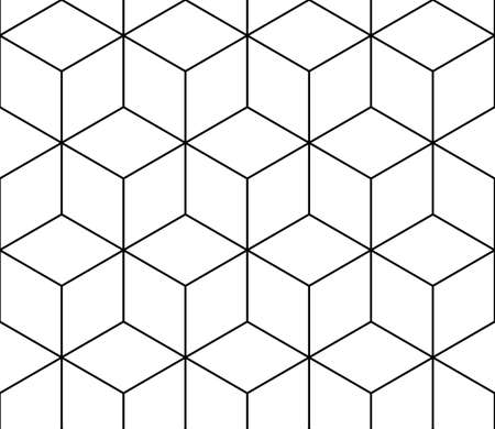 Isometric cube seamless pattern vector.