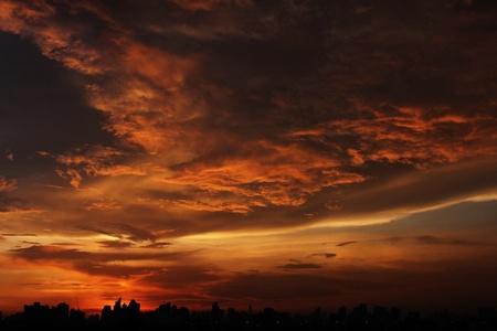 sunset in Bangkok Thailand