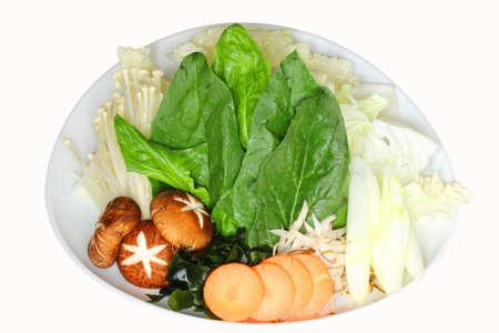 mixed vegetables for shabu-shabu Stock Photo