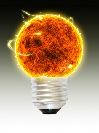 a fireball bulb Stock Photo