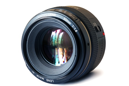 a fixed focal length 50 mm. lens photo