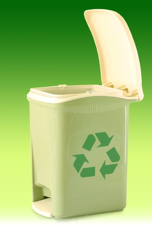 wastrel: a recycle bin Stock Photo